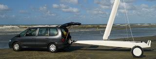 Char à voile Classe 2 remorqué par véhicule de Pierre-Yves Gires