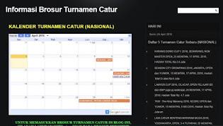 AGENDA EVENT/TURNAMEN CATUR LOKAL-REGIONAL-NASIONAL TAHUN 2016