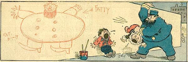 Bibì e Bibò, Captain spanking the Katzenjammer Kids