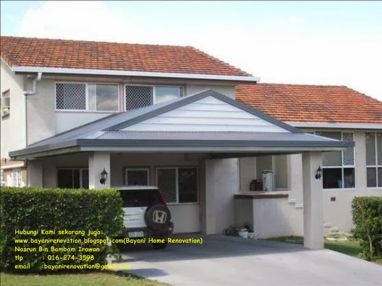 Design idea carport bayani home renovation for Drive through carport