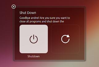 Unity style shutdown dialogs Ubuntu