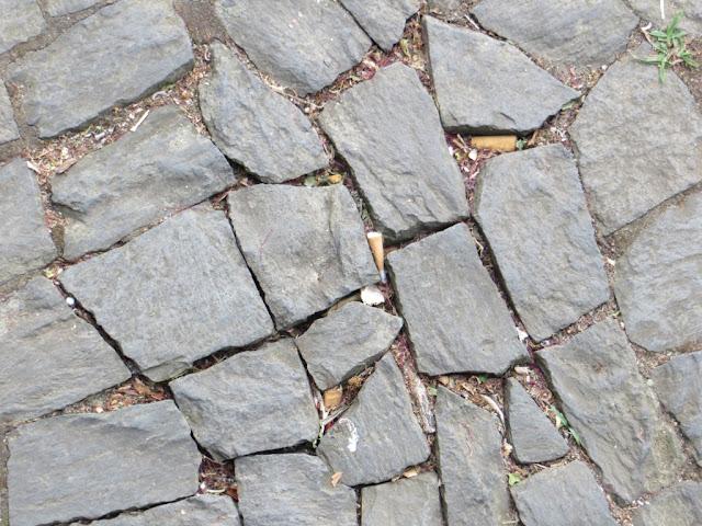 Fotografia macro Calçada Portuguesa Ladrilho de Passeio de Pedra