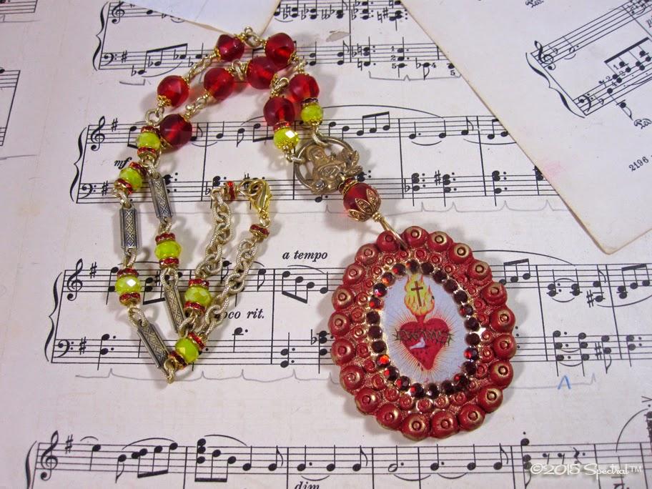 Vintage Sacred Heart Necklace