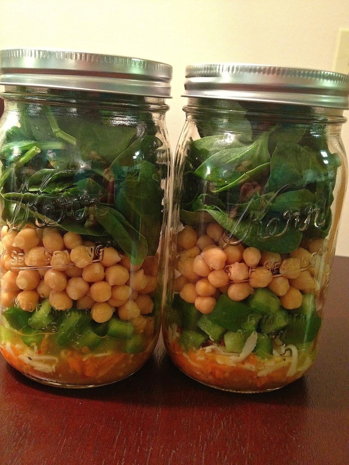 For these mason jar salads I used: Italian dressing, mozerella cheese ...