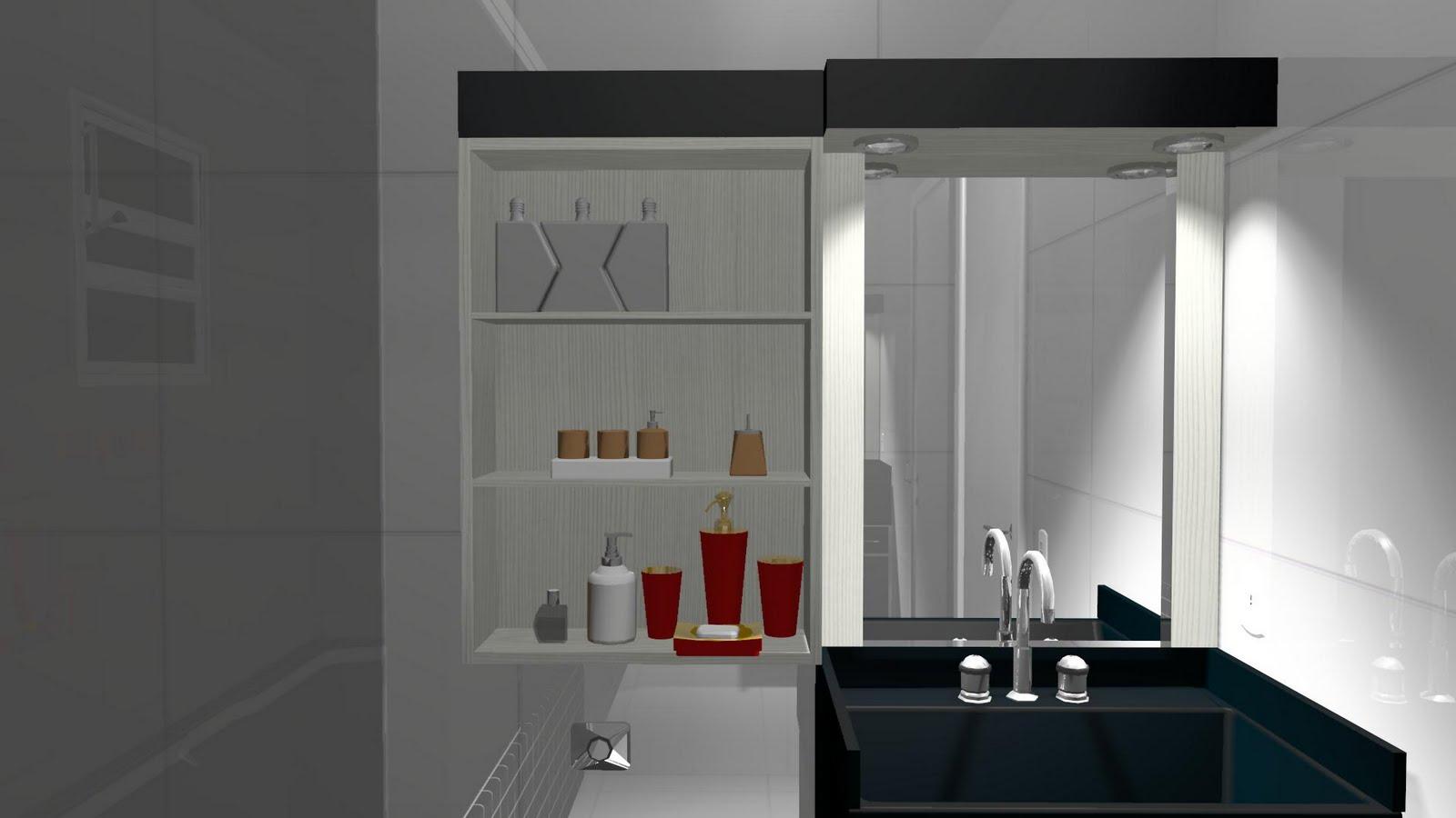 Espaço Nobre Design: Balcão de Banheiro (Preto Malago Branco Neve) #5F281E 1600 900
