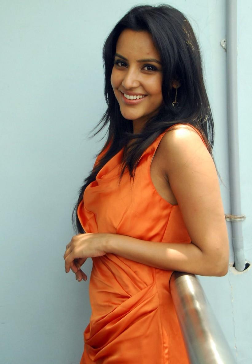 Priya Anand Photos in Orange Dress