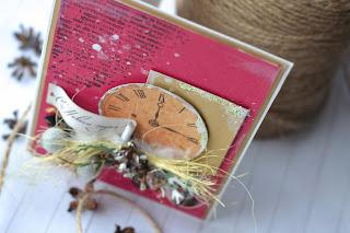 новогодняя открытка часы