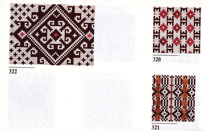 Латышские узоры спицами схемы