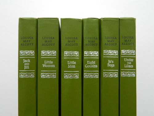 Set of apple green vintage LMA books
