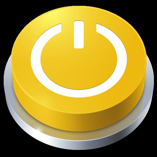 アイコン素材: 黄色いボタンアイコン