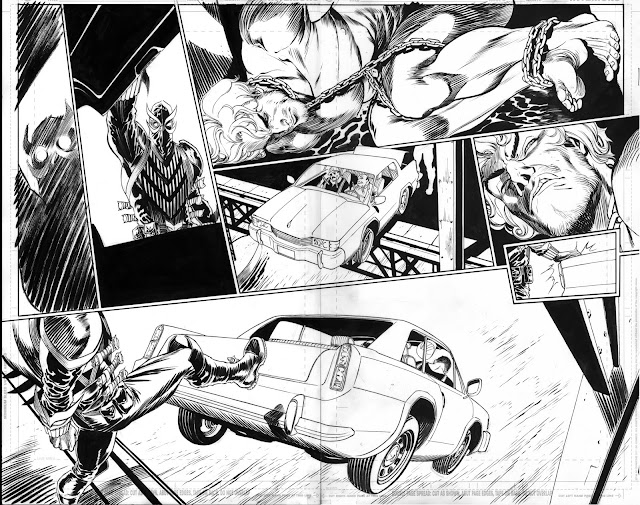 TALON #0 interior art: behind the scenes by Guillem March