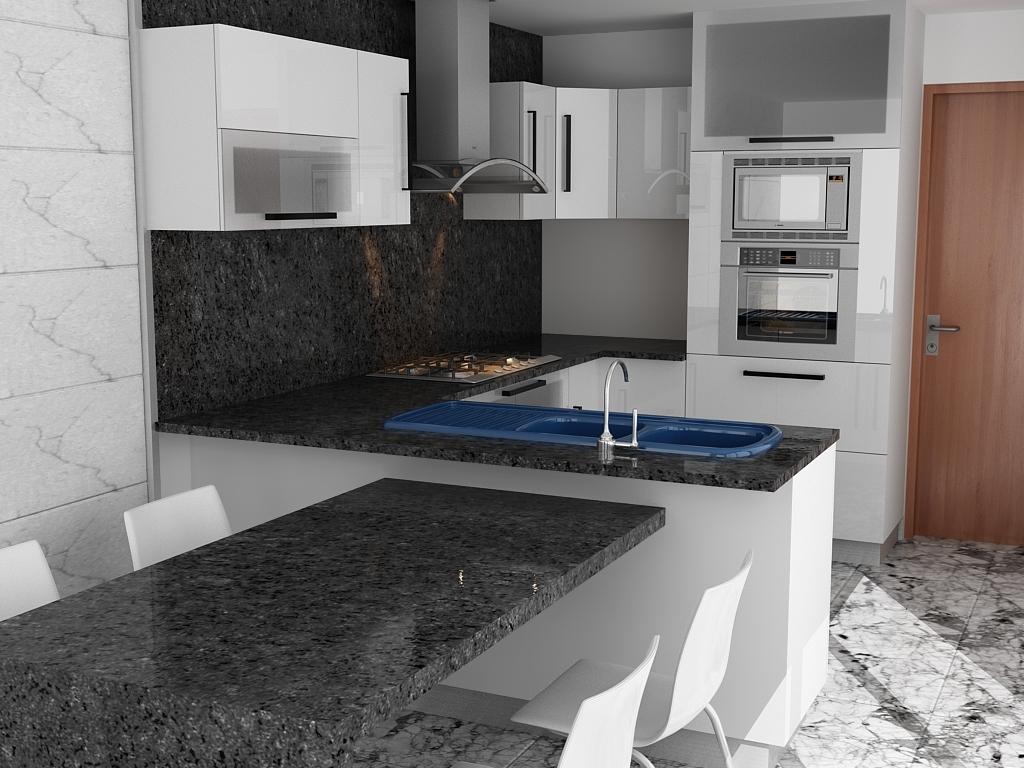 Af arquitectura y mobiliario modelado de mueble para cocina - Mobiliario de cocinas ...