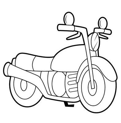 Dibujos para colorear: Dibujos de motos para colorear