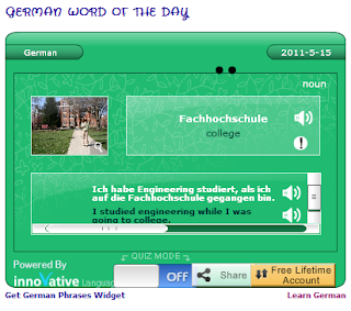 learn German word of the day widget