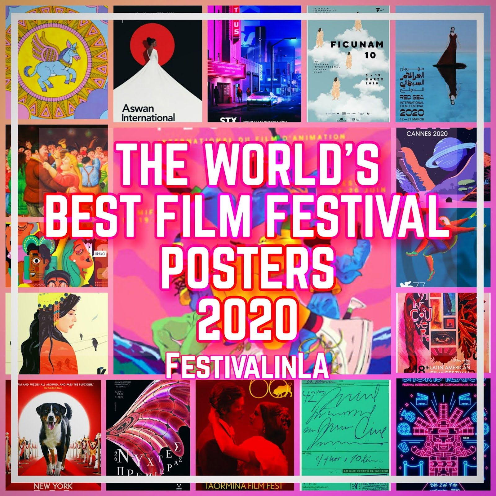 THE WORLD'S BEST FILM FESTIVAL POSTERS 2020