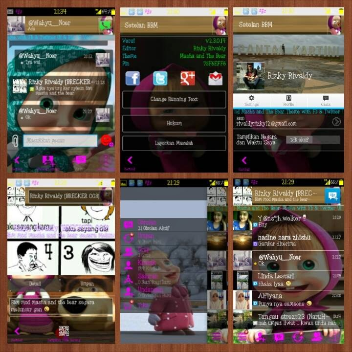 BBM Modifikasi versi Marsha And The Bear | Lucu-nya!
