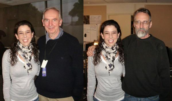 Alan Lee es la persona de la izquierda, John Howe el de la derecha