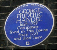 London plaque of George Frideric Handel