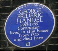 London plaque of George Frideric Handel