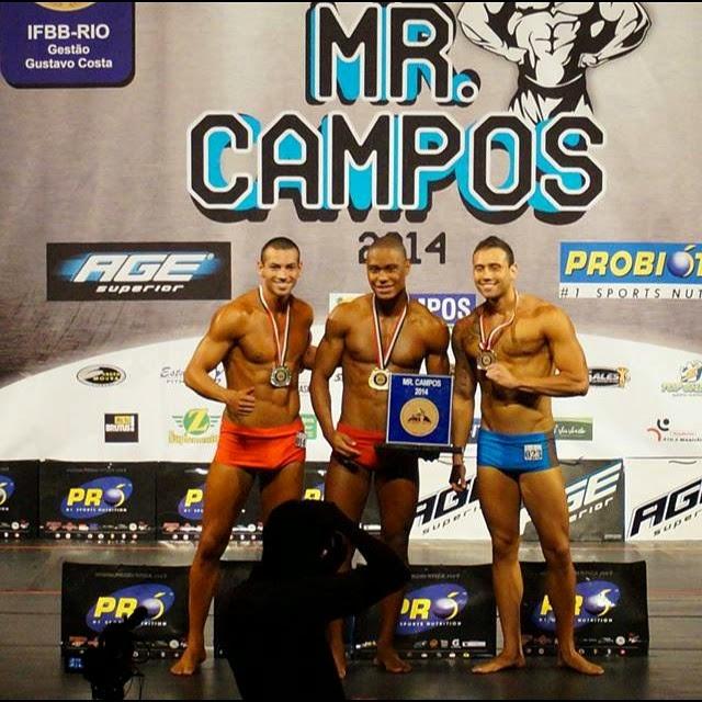 Em setembro, Breno Neves foi vice-campeão no Mr. Campos Foto: Instagram/Reprodução