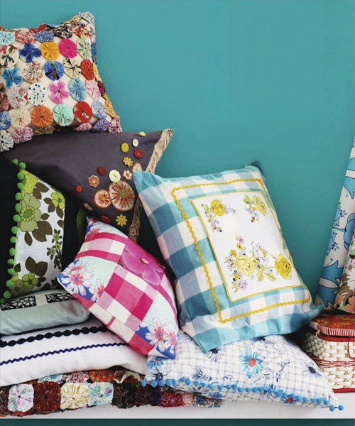 Vintage+Fabrics+and+Cushions Retro Home DIY Ideas for Decor | Colourful Flea Market Thrift Style