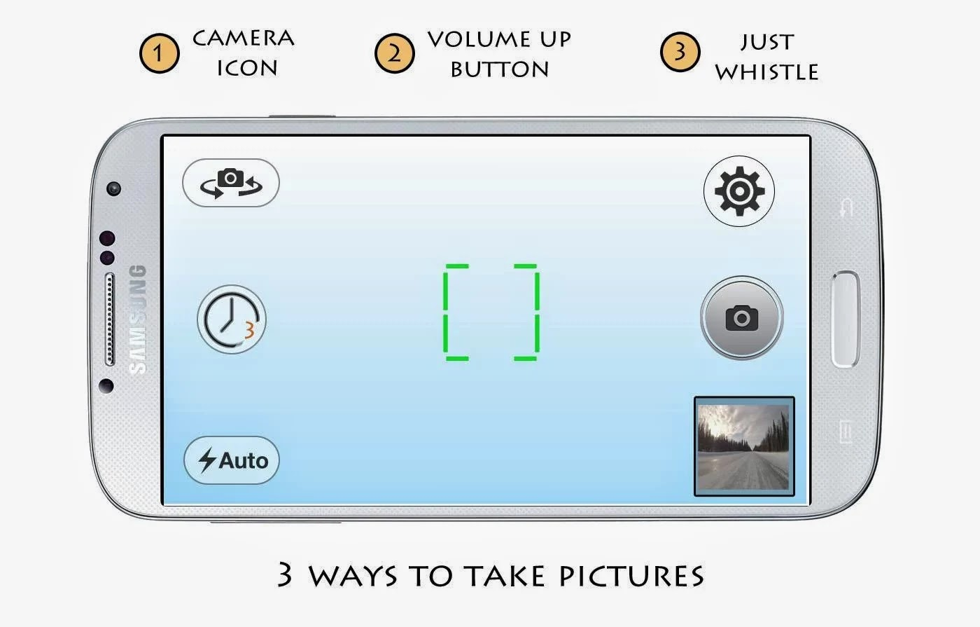 Capture Photos & Selfies by Whistling on Android Mobiles