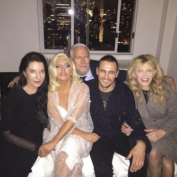 James Franco in Lady Gaga party