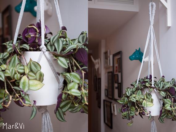 DIY: macetero colgante hecho con trapillo