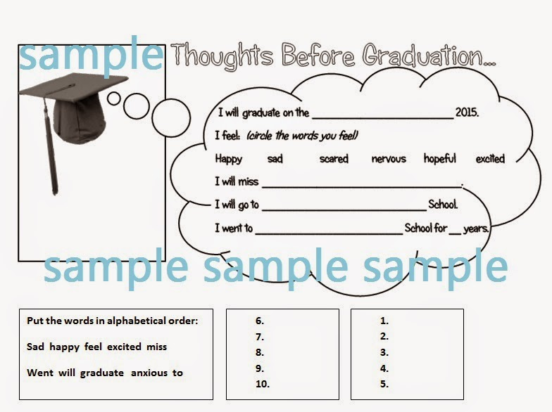 Graduation worksheet for elementary or middle school mrs baias graduation worksheet for elementary or middle school mrs baias classroom solutioingenieria Image collections