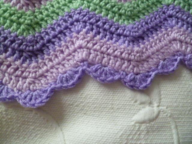 The 8th Gem: CROCHET: Baby Ripple Blanket Edging
