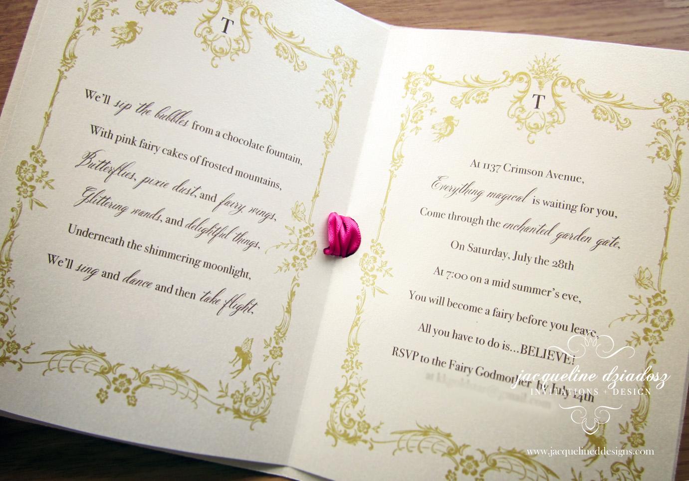 Taylor\'s Fairy-tale Birthday Invitations   Jacqueline Dziadosz ...