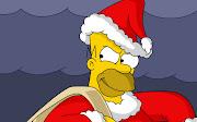 Homer Simpson In Santa claus Dress