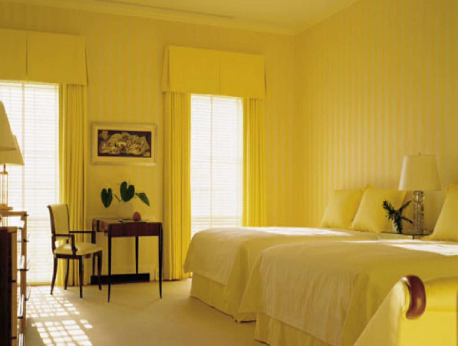 Интерьер в жёлтом цвете