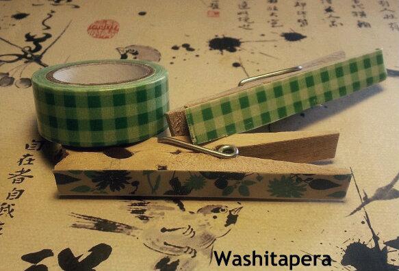 Washitapera c mo decorar unas pinzas con washi tape - Como decorar con washi tape ...