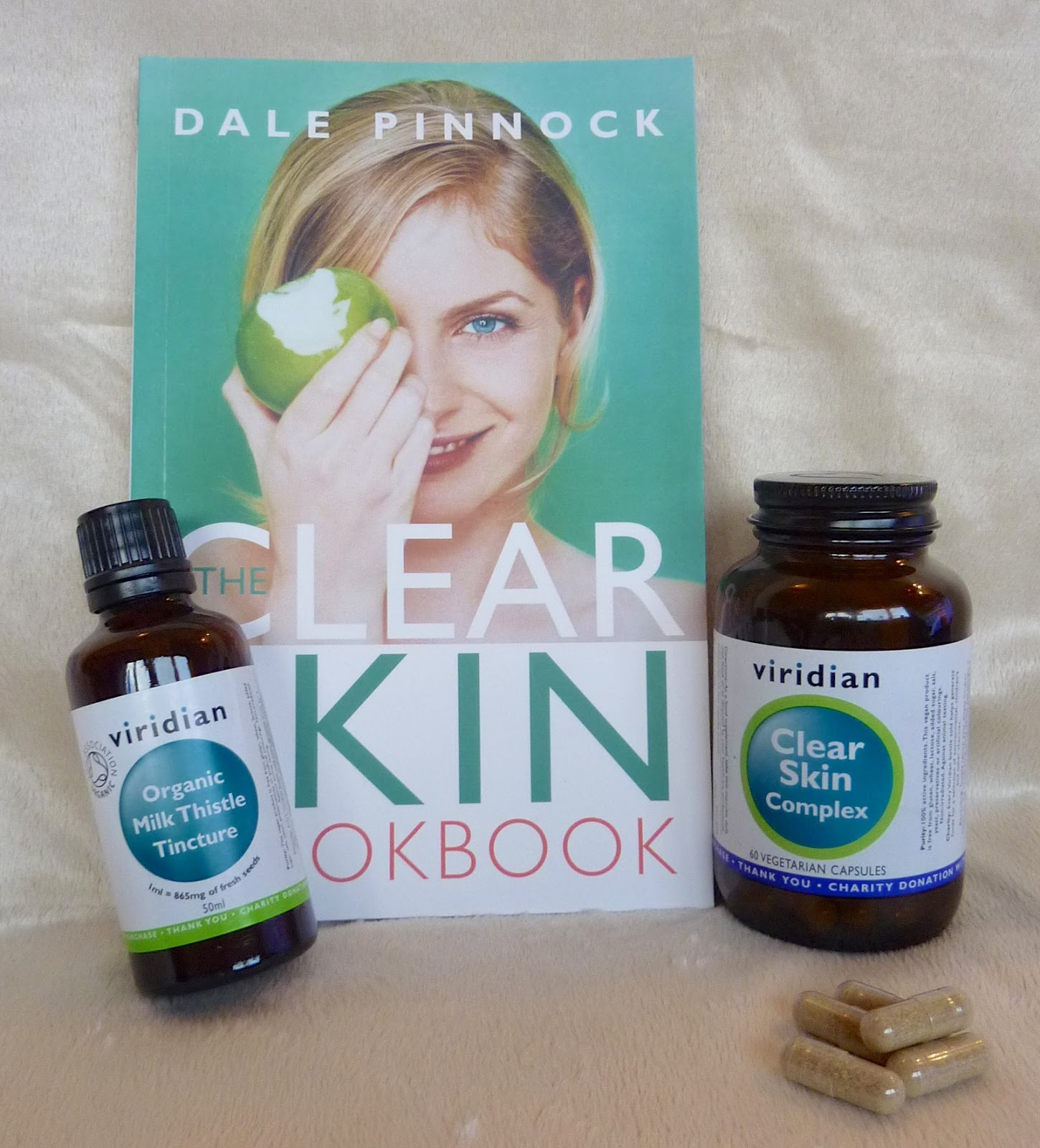 clear skin cookbook and supplements