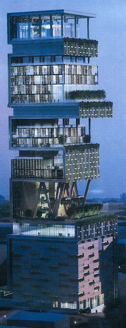 ANTILLA EXTERIOR MUKESH AMBANI BILLION DOLLAR HOMES