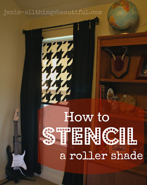 Painted Roller Shades : All things beautiful how to stencil a roller shade