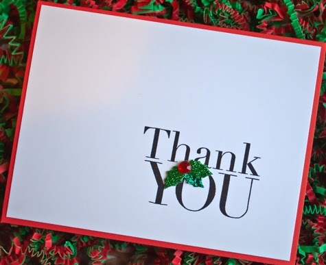 Dear Paperlicious Easy Christmas Thank You Cards