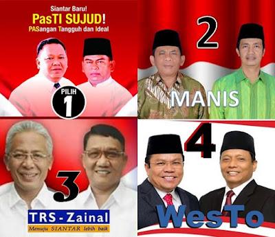 Inilah Nomur Urut 4 Paslon Walikota dan Wakil Walikota Siantar
