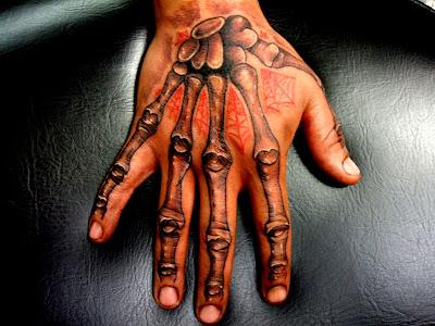 hand bones tattoo