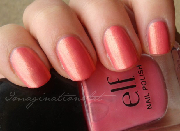 elf coral corallo swatch swatches smalto unghia nail polish lacquer laquer