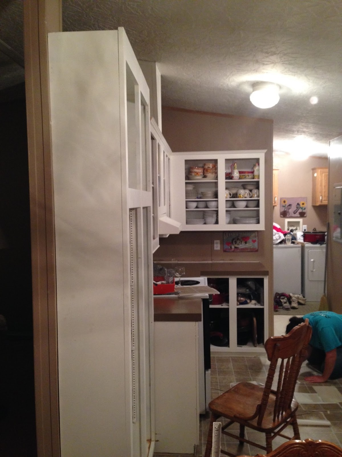 Pantry unit installed