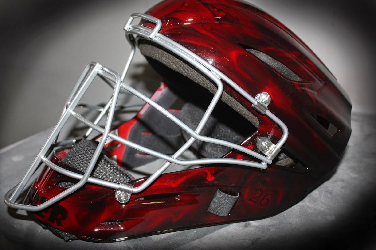 Online Motorcycle Paint Shop Custom Painted Catcher Baseball Helmet