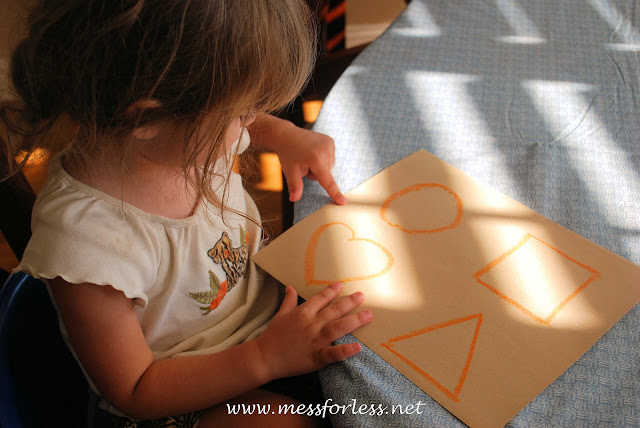 child tracing, shapes, fine motor