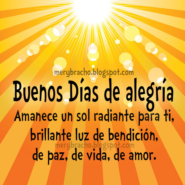 BUENOS DIAS !!! - Amigos Cristianos - Gabitos