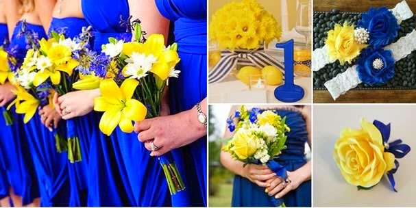 decoracao de festa azul marinho e amarelo: Baptista: Decoração De Casamento, Inspiração Azul E Amarelo