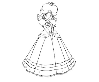 #2 Princess Daisy Coloring Page