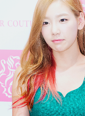 Taeyeon SNSD Girls' Generation Stylish Pink and Brown Hair