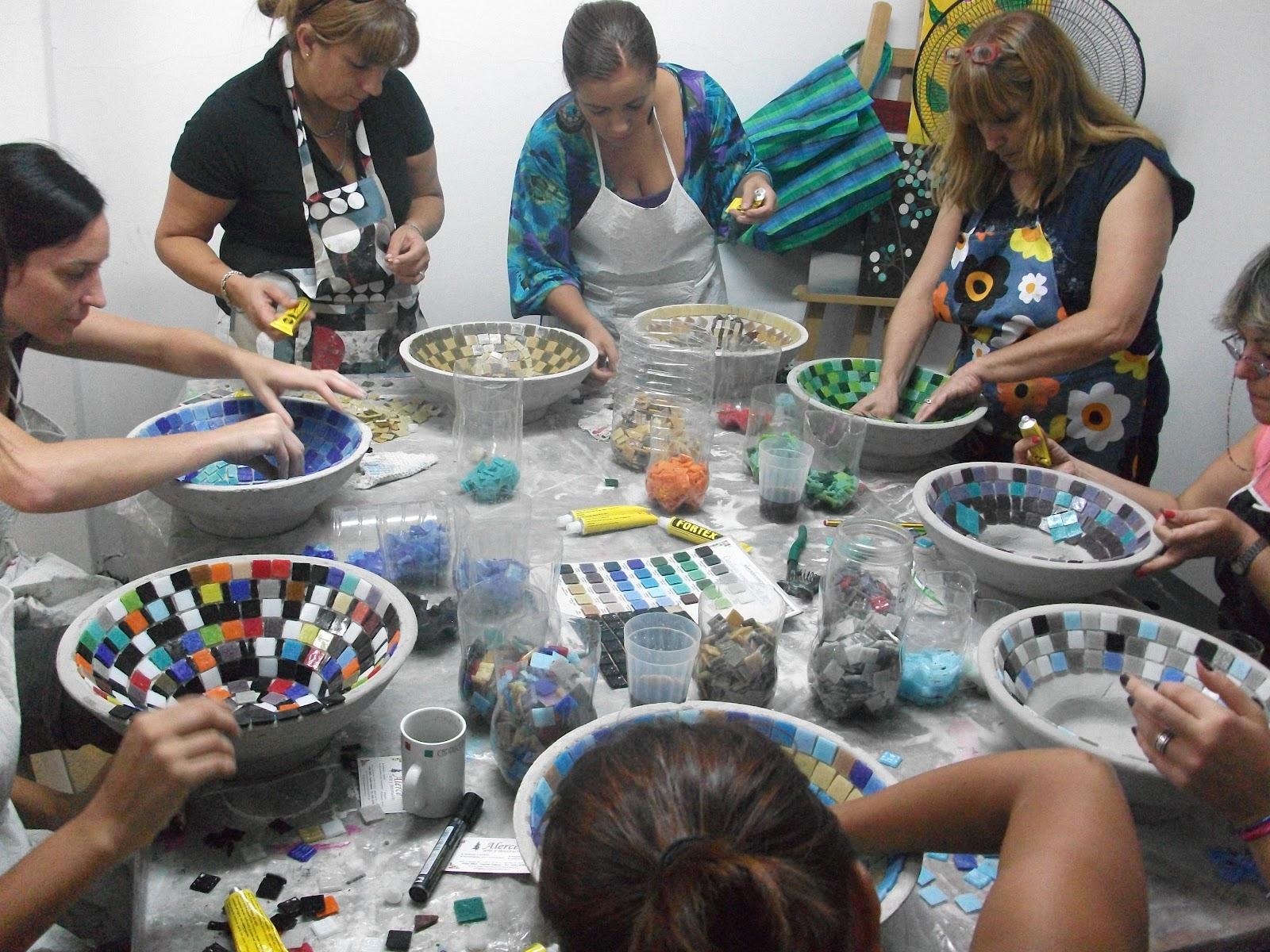 Decoracion De Baños Con Venecitas: Mosaiquismo: SABADO 11 FEBRERO TALLER DE BACHAS DE BAÑO CON VENECITAS