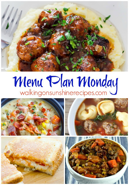 This week's Menu Plan Monday is all about comfort food.  Join me as I share some great comfort food meal ideas with you from Walking on Sunshine Recipes.